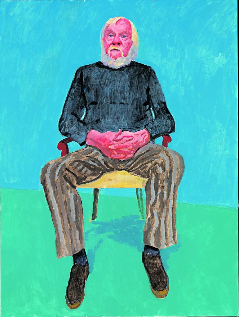 David Hockney, «John Baldessari» © David Hockney, photo credit Richard Schmidt
