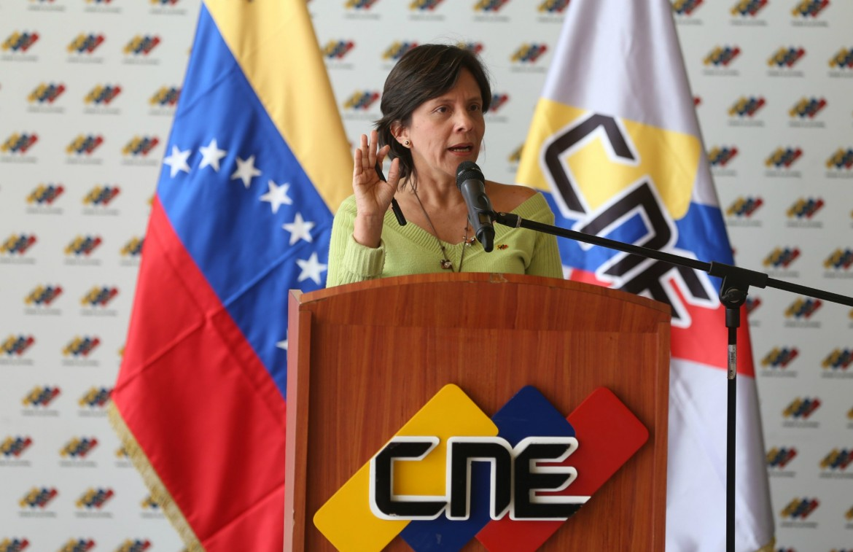 La vicepresidenta del Cne, Sandra Oblitas