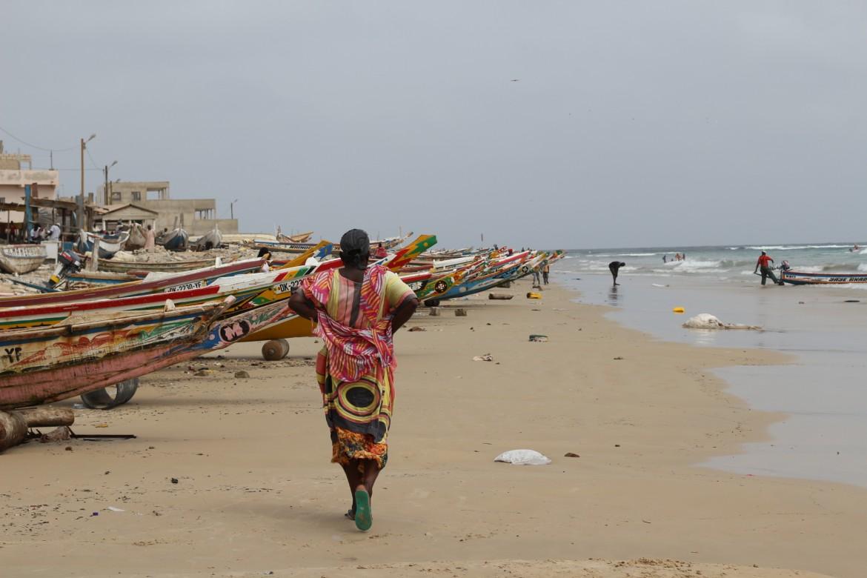 Sulla spiaggia di Yoff a Dakar