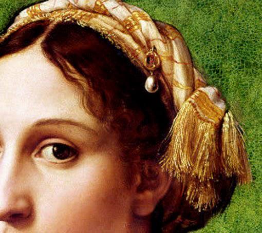 Raffaello Sanzio, Ritratto di giovane donna (particolare)