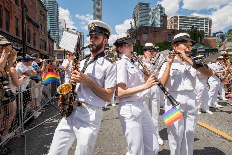Un momento delle manifestazioni in sostegno dei transgender nell'esercito