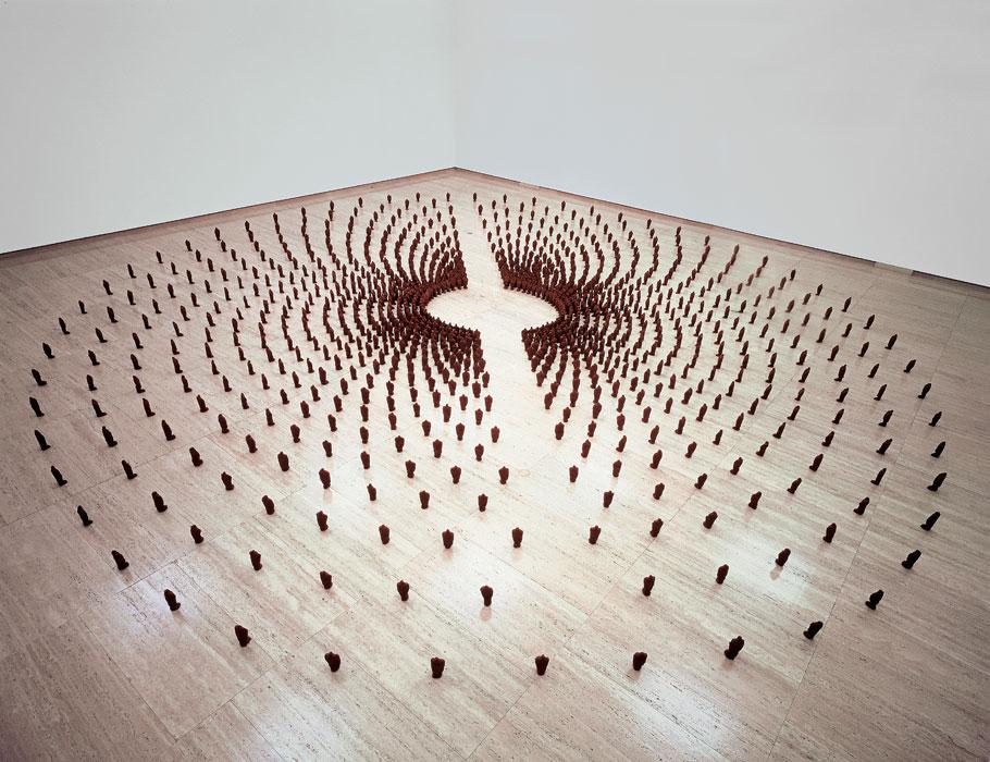 Un'installazione di Antony Gormley