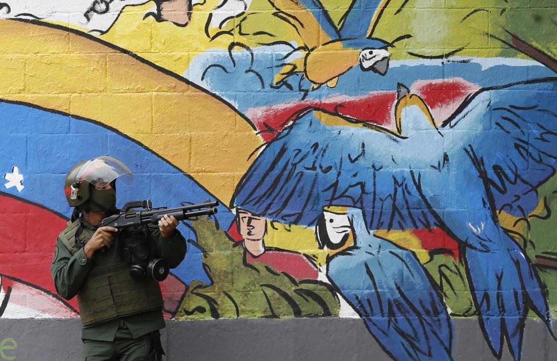 Guardia nazionale a Caracas