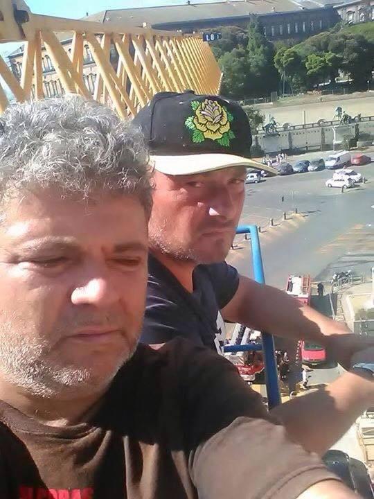 Mimmo Migliano e Massimiliano Olivieri, operai Hitachi