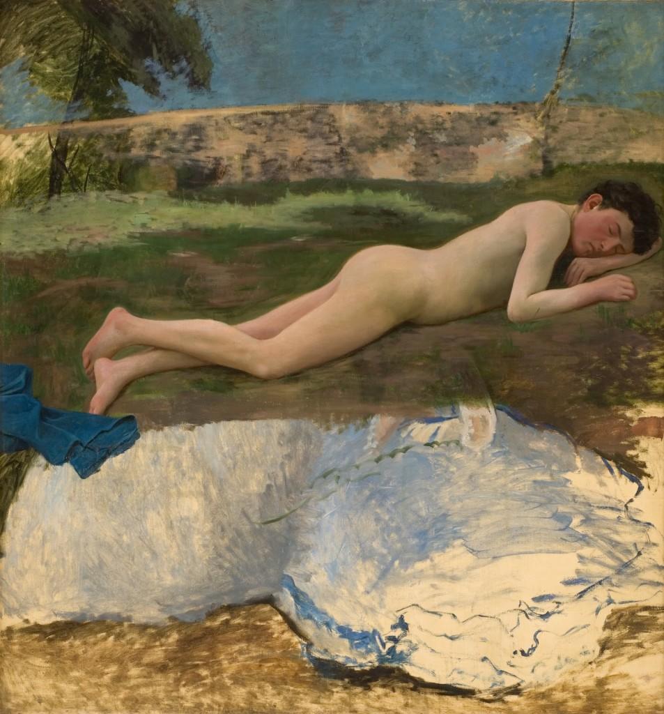 Frédéric Bazille,  «Studio per nudo  di ragazzo», 1870, Montpellier,  Musée Fabre