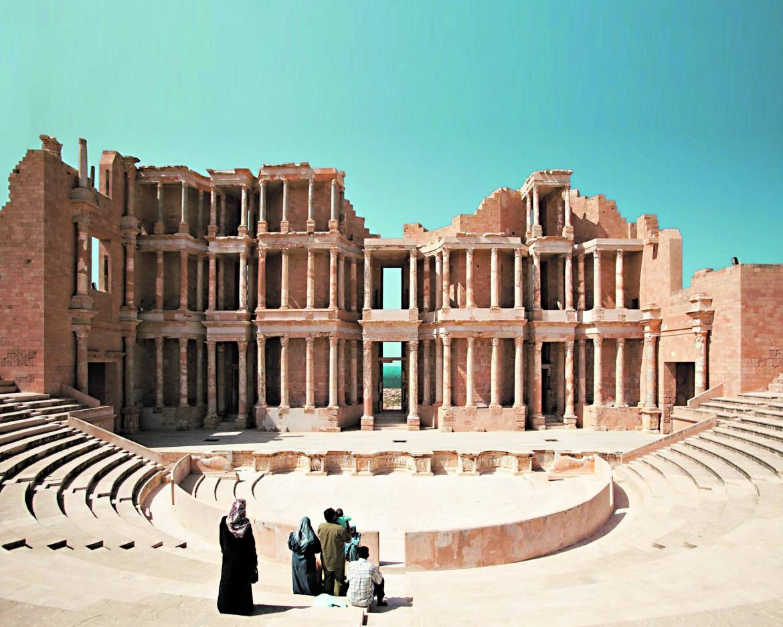 Sabratha, teatro romano, databile tra la fine del II  e gli inizi del III sec. d.C.