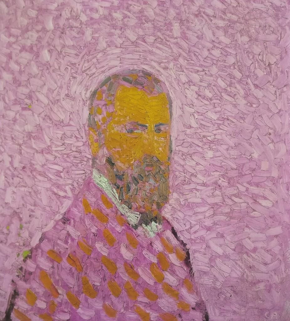 Cuno Amiet, «Autoritratto in rosa», 1907, Svizzera, coll. priv.