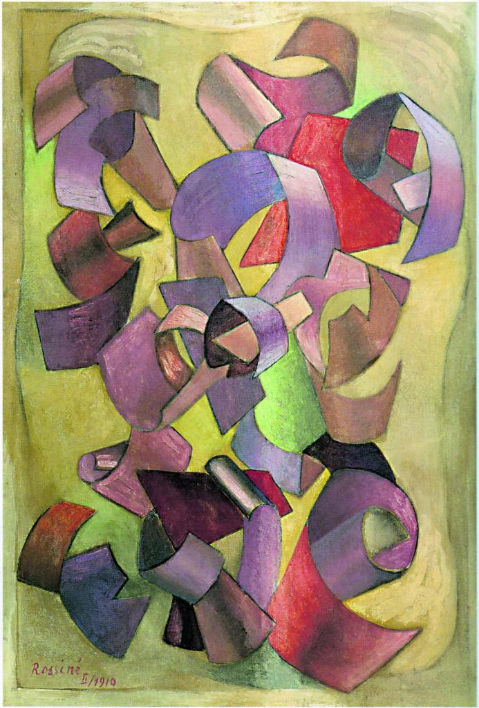 Vladimir Baranov-Rossiné, «Composizione astratta II», 1912-'13, Parigi, Centre Pompidou