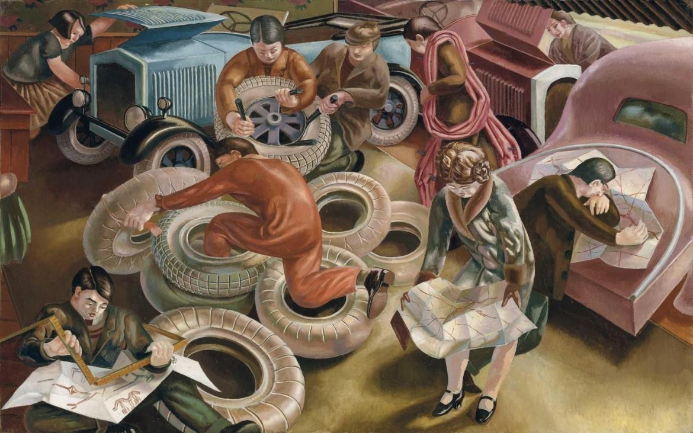 Stanley Spencer, «The Garage», 1929 in asta da Christie's a Londra nel giugno 2016