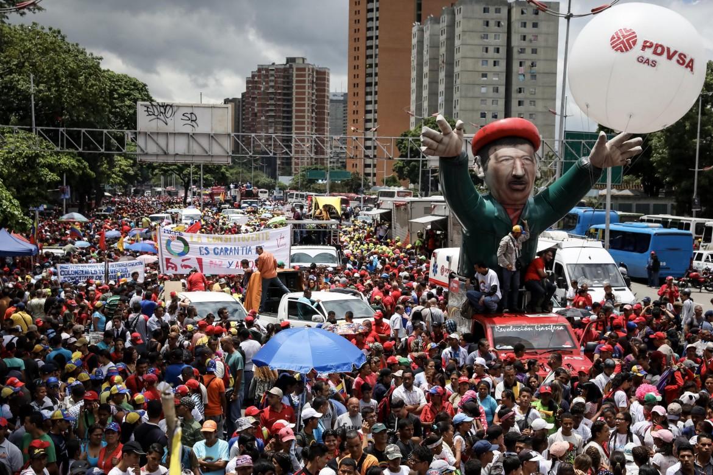 Manifestazione a favore della Costituente ieri a Caracas
