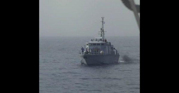 La motovedetta libica che ha aperto il fuoco contro la nave della Ong spagnola