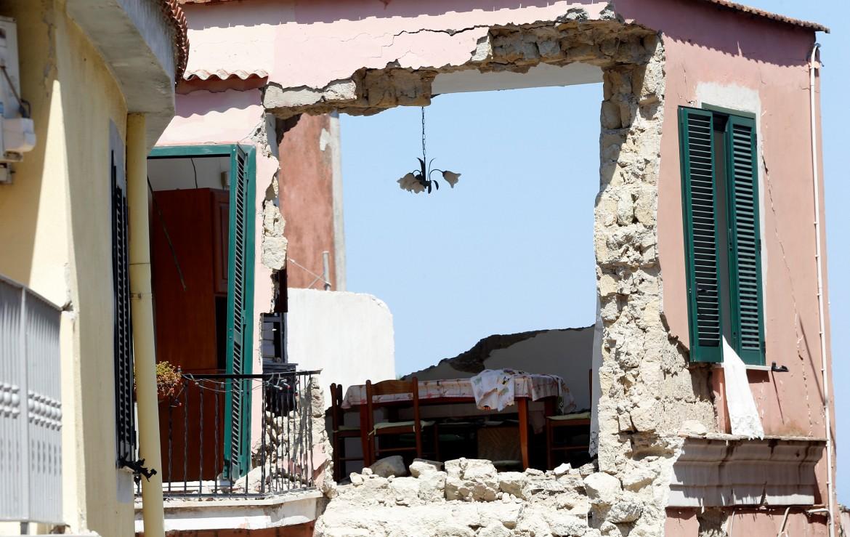 Effetti di un terremoto a Ischia (Napoli)