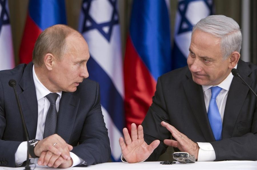 Il presidente russo Putin con il premier israeliano Netanyahu