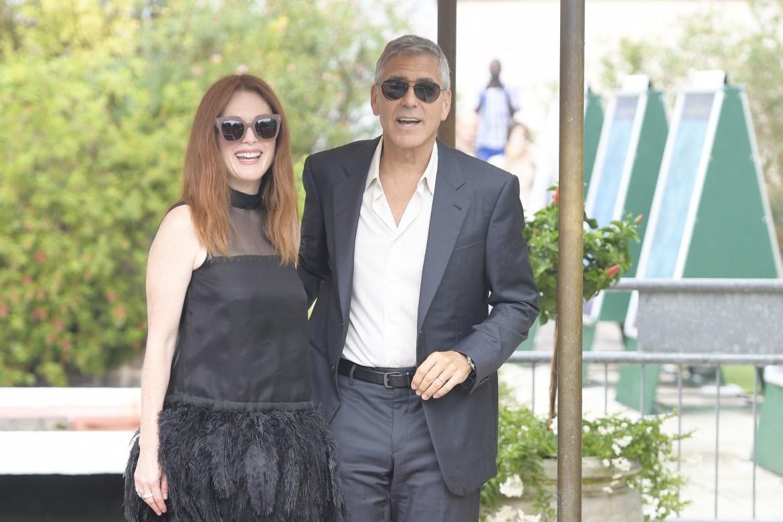 Julianne Moore e George Clooney al Lido