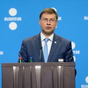 Il vicepresidente della Commissione Ue, Valdis Dombrovskis