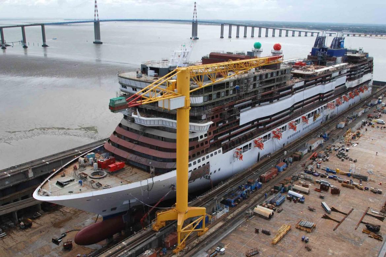 Una nave da crociera Fincantieri