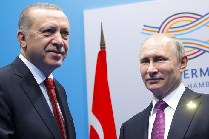 Erdogan e Putin al G20 di Amburgo