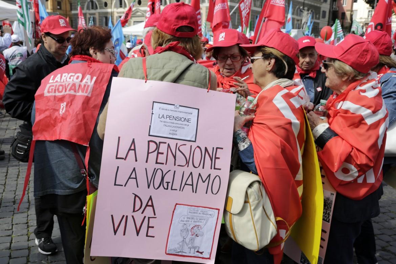 Una manifestazione di pensionandi