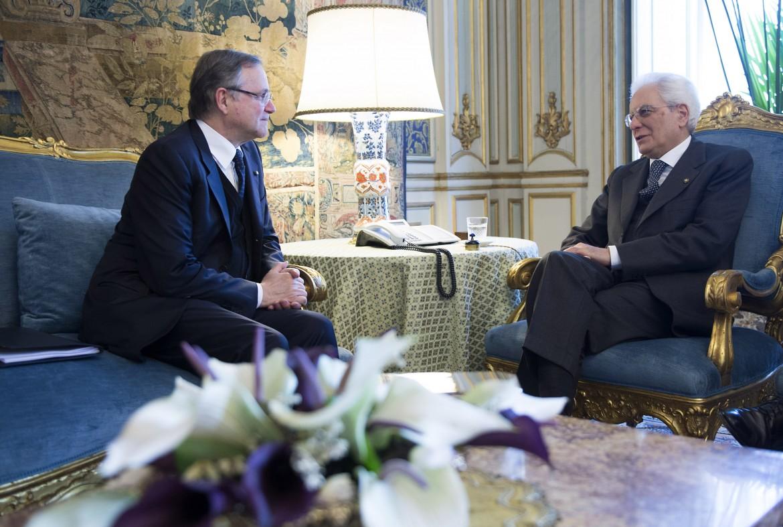 Il presidente della Banca d'Italia Ignazio Visco in un passato colloquio con il presidente della Repubblica Sergio Mattarella