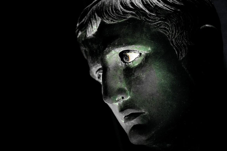 Augusto, testa bronzea detta «Meroë»,  30-25 a.C. ca., Londra, British Museum