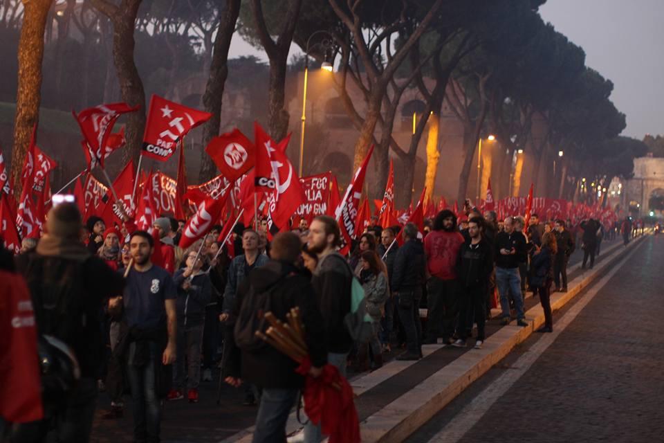 Manifestazione Nazionale Partito Comunista Roma 11 novembre 2