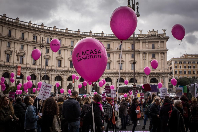 La manifestazione nazionale di Non una di meno del 25 novembre scorso a Roma,