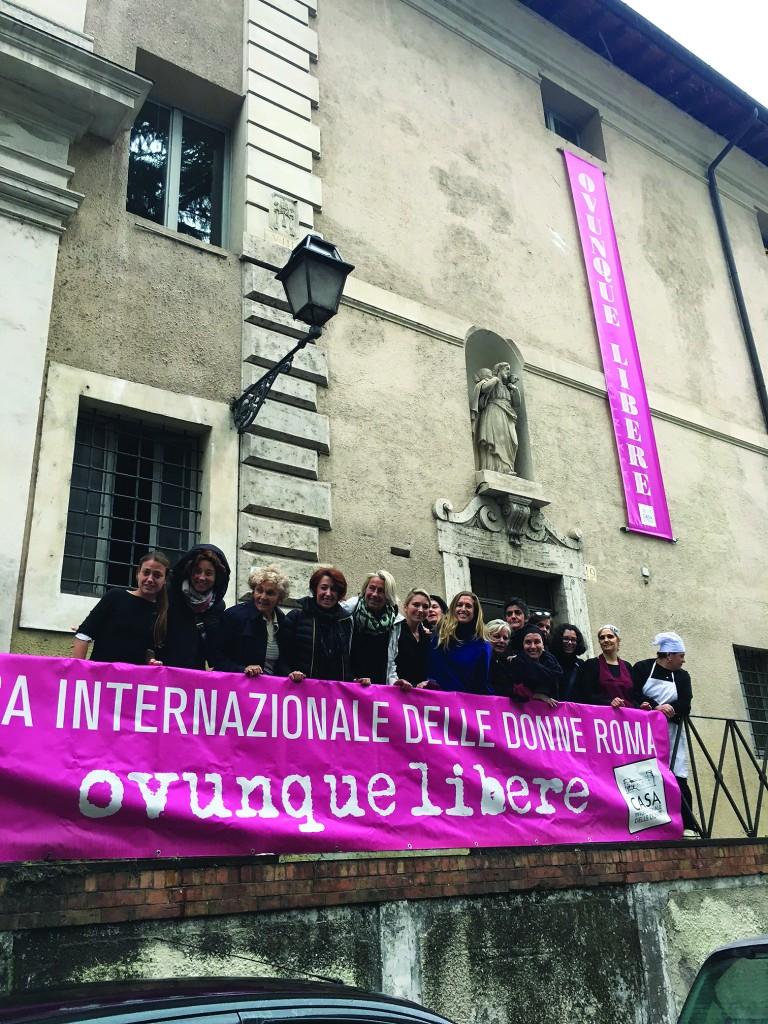 Roma, via della Lungara, la casa internazionale delle donne