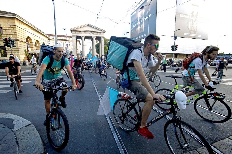 La protesta dei riders