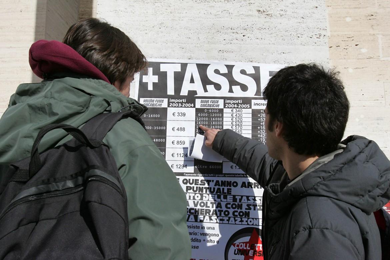 La Sapienza di Roma, protesta contro il caro tasse