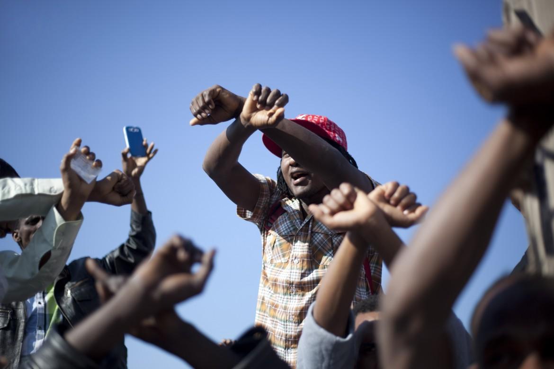 Protesta di rifugiati africani in Israele