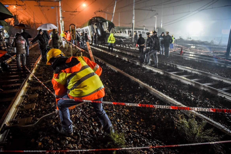 Il treno deragliato a Pioltello nel 2018