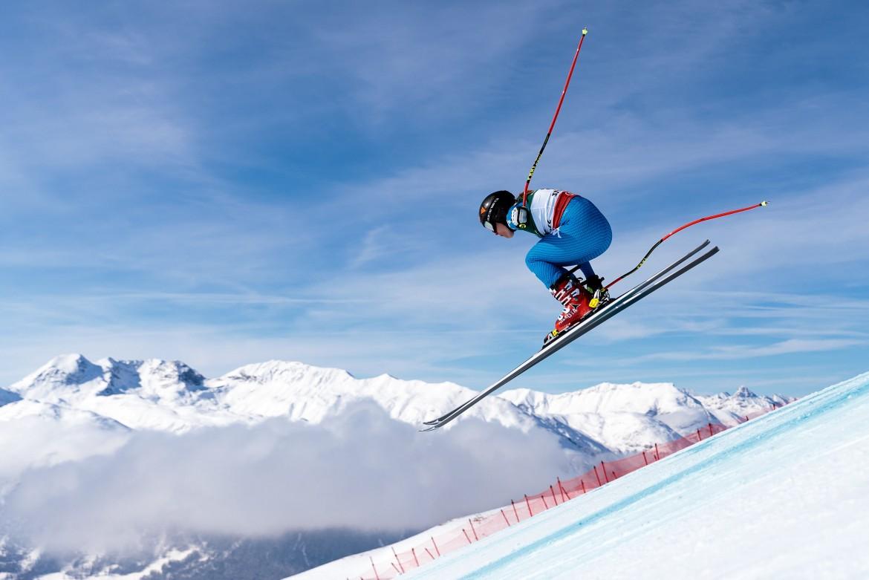 Sofia Goggia in prova il 9 febbraio 2017 a  St. Moritz (Svizzera) per la coppa  del mondo