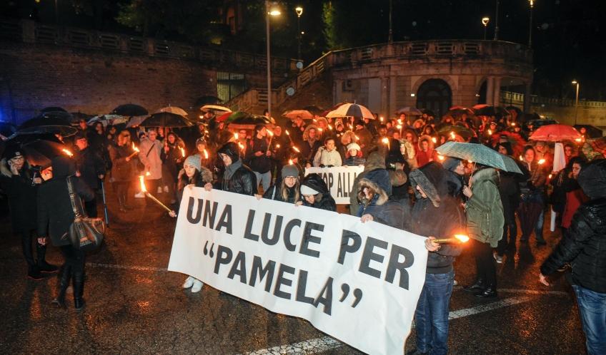 La fiaccolata martedì sera a Macerata per Pamela Mastropietro