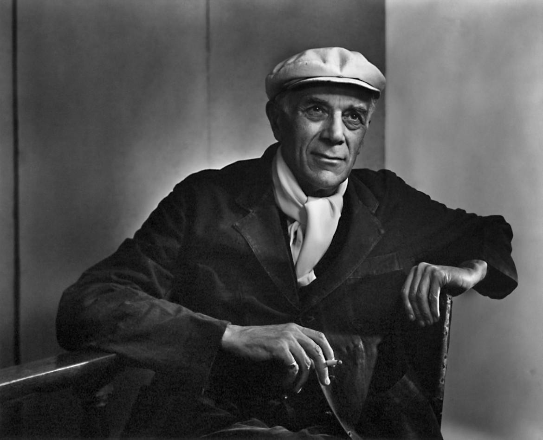 Georges Braque nel 1949 in un ritratto fotografico di Yousouf Karsh