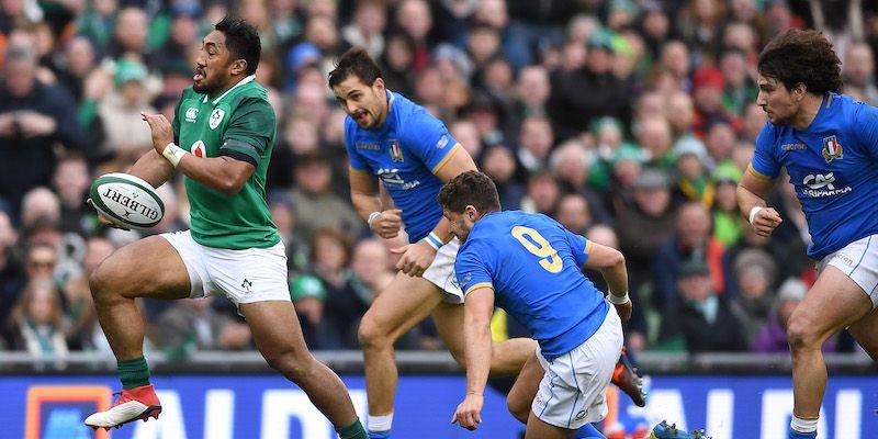 Una fase del match Irlanda-Italia