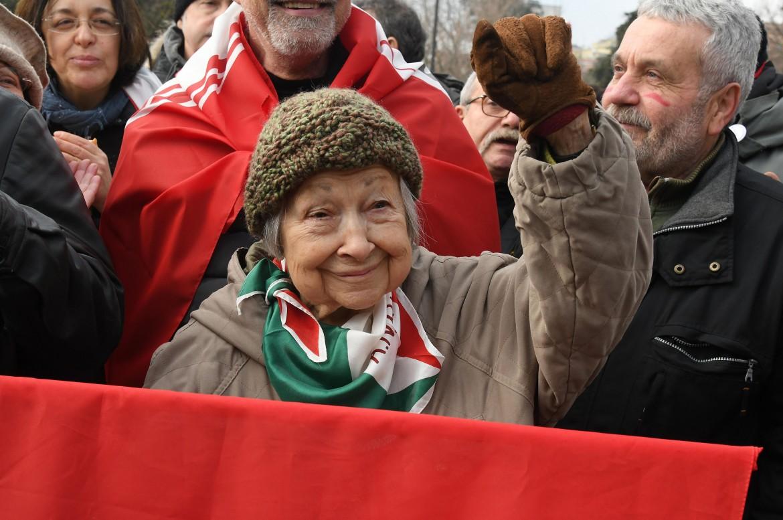 Manifestazione antifascista a Macerata.