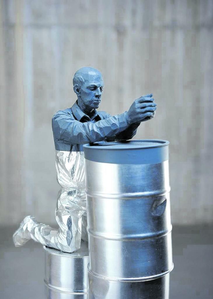 Una scultura di Willy Verginer