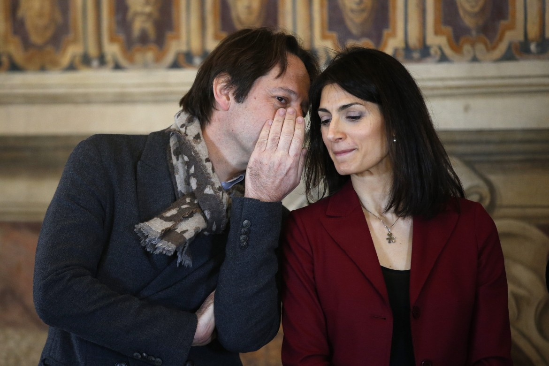 Luca Bergamo e Virginia Raggi