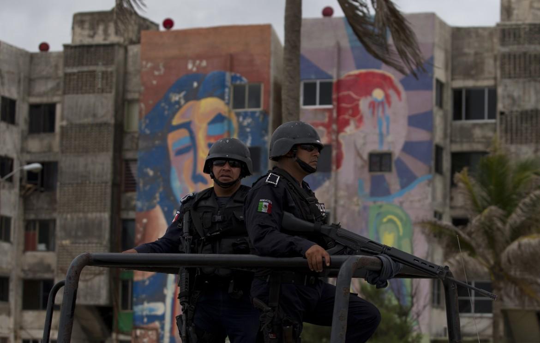 Militari messicani nello Stato messicano di Veracruz