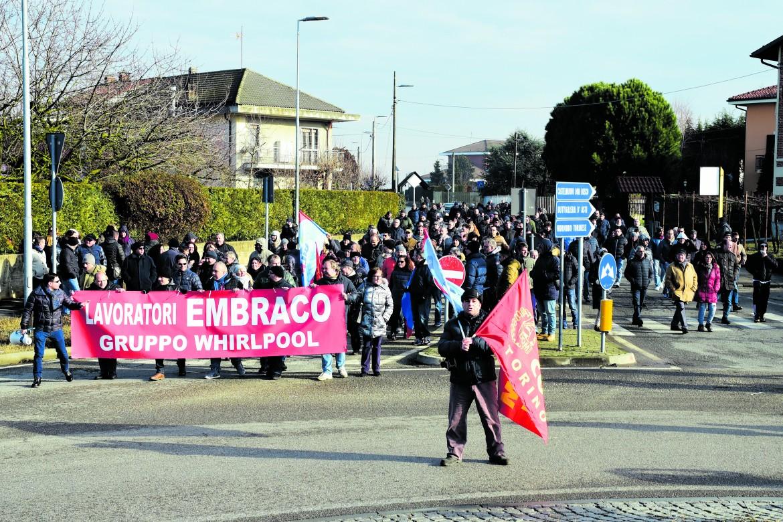 Torino, una recente manifestazione dei lavoratori Embraco