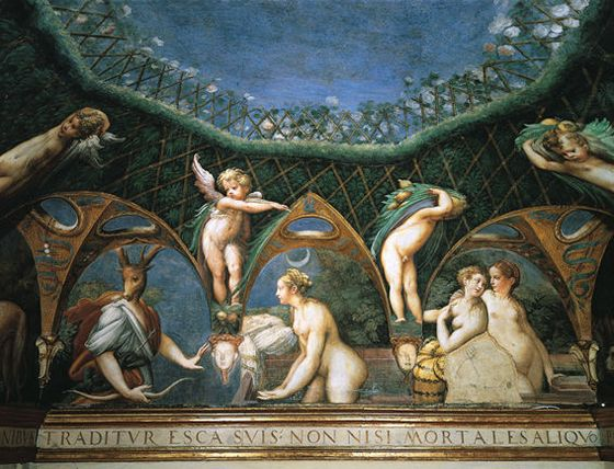 Diana e Atteone, Parmigianno, Rocca Sanvitale a Fontanellato