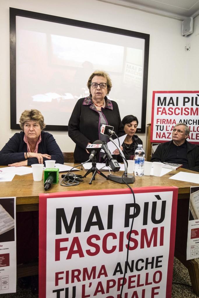 Carla Nespolo con Susanna Camusso, Francesca Chiavacci e Luigi Ciotti