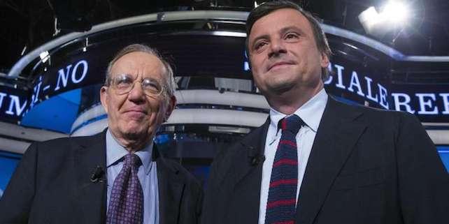 I ministri «economici» Pier Carlo Padoan e Carlo Calenda