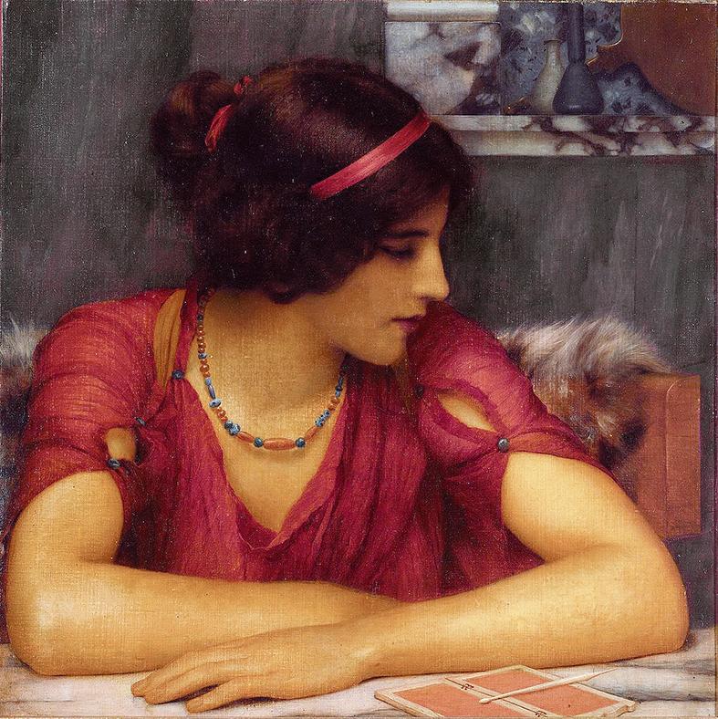 John William Godward, The Letter, 1899
