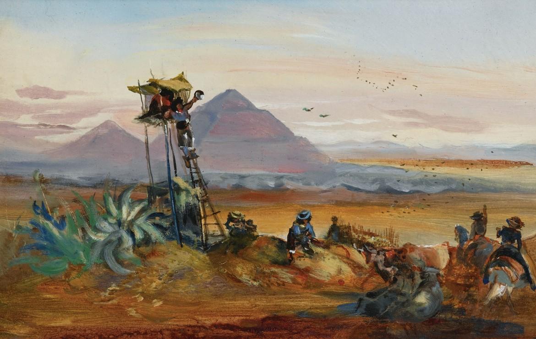 ohann Moritz Rugendas (protagonista  del libro di César Aira) Teotihuacán, 1832
