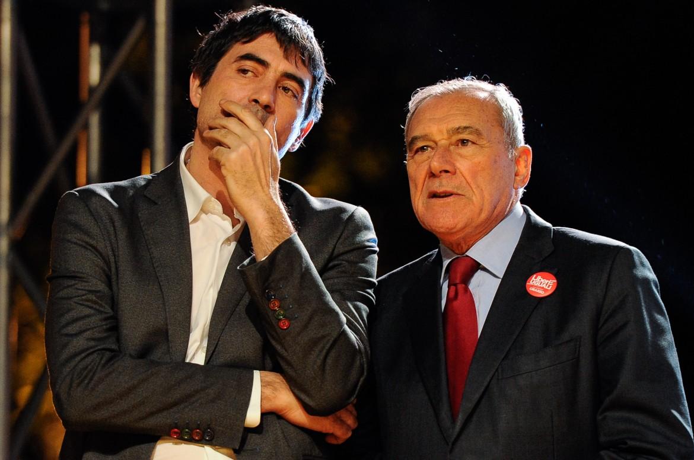 Nicola Fratoianni e Piero Grasso