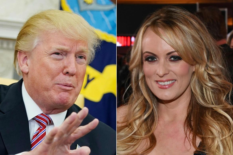 Trump e l'attrice porno Stormy Daniels