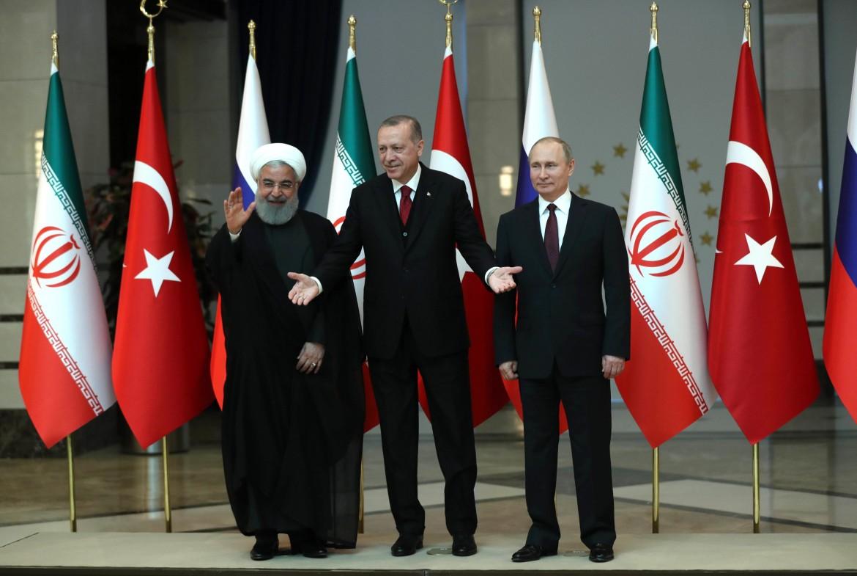 Rohani, Erdogan e Putin in un vertice ad Ankara nell'aprile del 2018