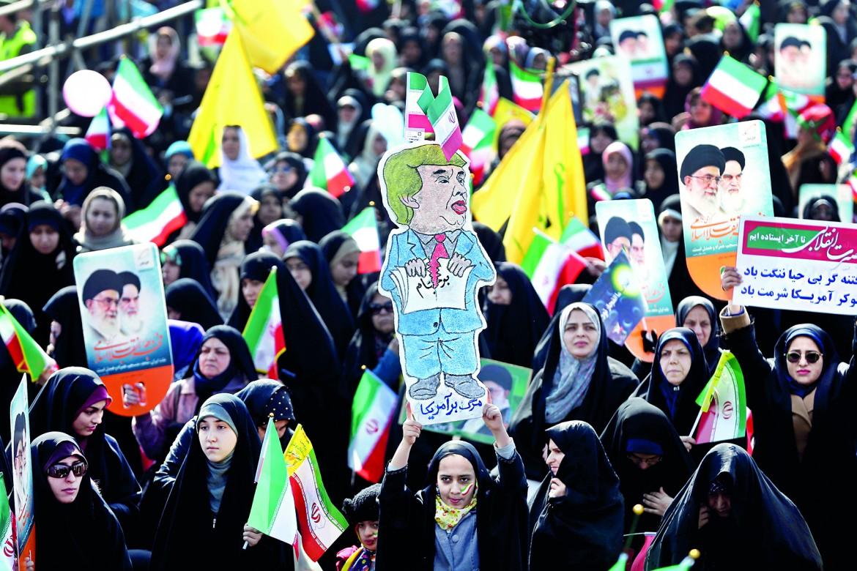 A Teheran manifestazione contro Donald Trump