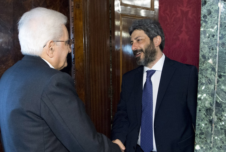 Il presidente della Camera Roberto Fico alle consultazioni con il capo dello Stato nello scorso aprile